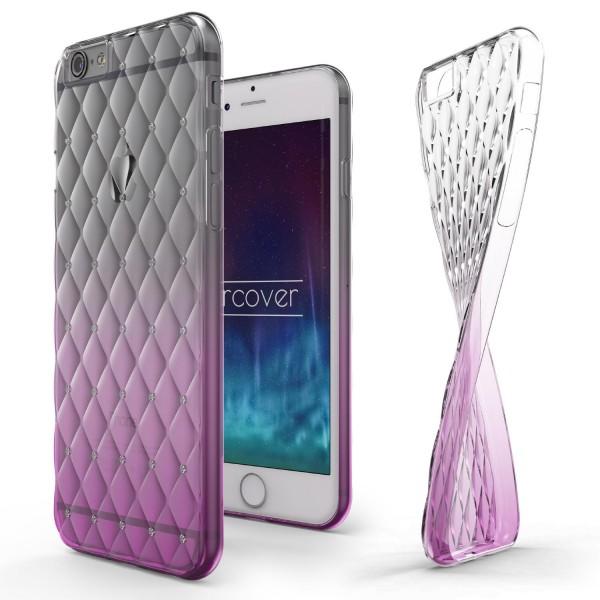 Apple iPhone 6 Plus / 6s Plus Luxus TPU Handy Hülle Schutz Cover Glitzer Diamant