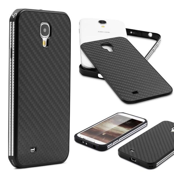 Samsung Galaxy S4 Echt Carbon Back Case Handy Schutz Hülle Bumper Aluminium