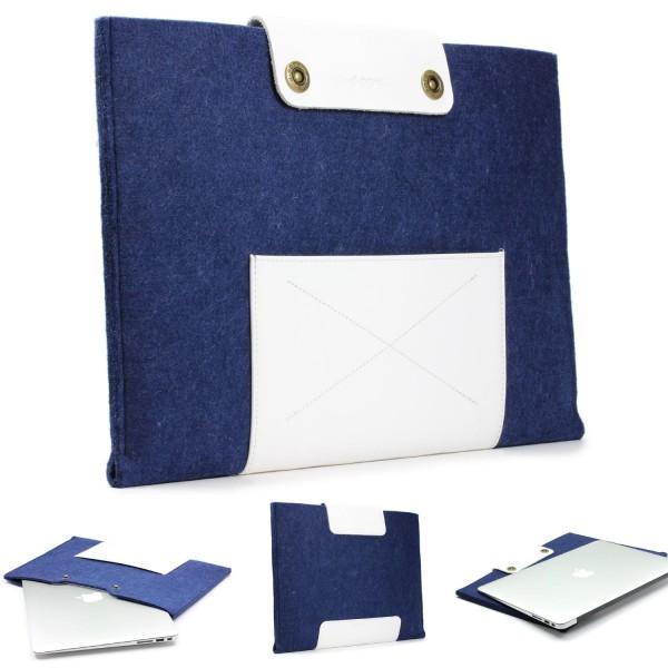 Urcover® Handmade Filz Mac-Book Air Laptop Tasche 13,3 Zoll Sleeve