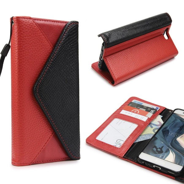 Urcover® Huawei P10 Plus Schutz Hülle Karten & Geld Fach Case Cover Etui