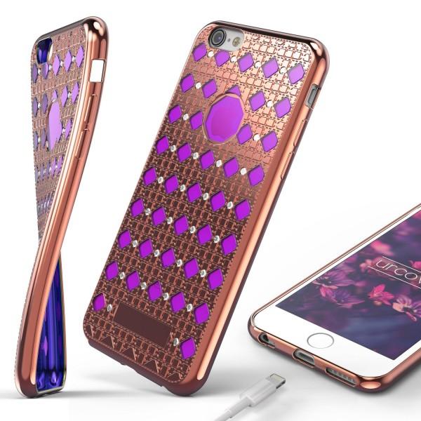 Urcover® Apple iPhone 6 Plus / 6s Plus Silikon Back Case Oriental Schutzhülle