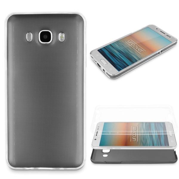 Samsung Galaxy J7 (2016) 360 GRAD RUNDUM SCHUTZ Metalloptik TPU Hülle Cover Case