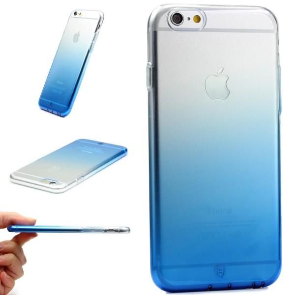 Apple iPhone 6 / 6s Bunt Regenbogen Back Case Cover TPU Silikon Schutz Hülle Gel