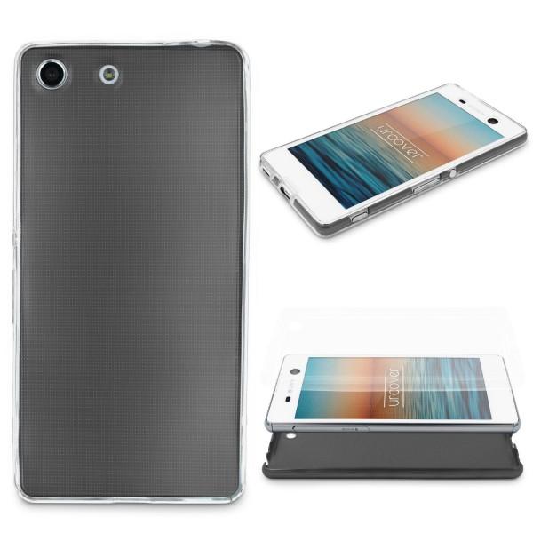 Sony Xperia M5 360 GRAD RUNDUM SCHUTZ Metalloptik TPU Hülle Cover Case Schale