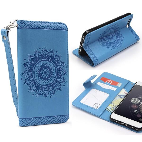 Huawei P10 Plus Wallet Klapp Schutz Hülle Stand Flip Case Cover Etui Schale