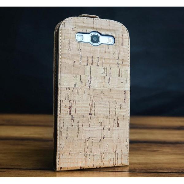 Urcover® Samsung Galaxy S3 Kork Flip Schutz Hülle Case Cover Wallet Etui Schale