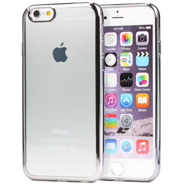 Apple iPhone 6 / 6s Urcover® TPU Silikon Handy Schutzhülle Spiegel Back Case