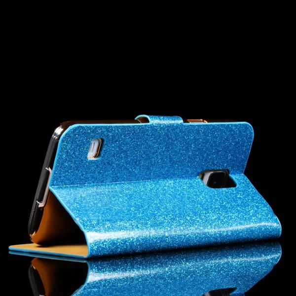 Samsung Galaxy S5 Strass Bling Diamant Handy Flip Hülle Glitzer Wallet Case
