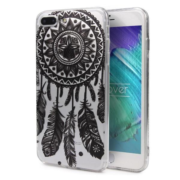 Apple iPhone 7 Plus TPU Schutzhülle Mandala Muster klar Silikon felxible dünn