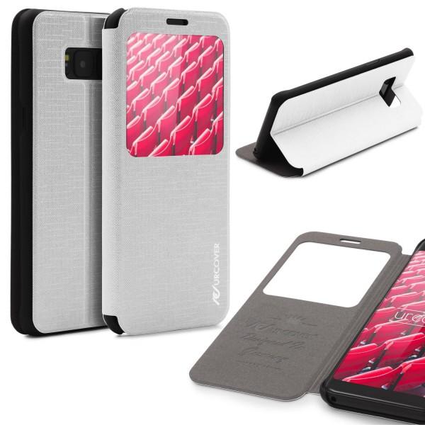 Samsung Galaxy S8 View Case Schutz Hülle Wallet Cover Etui Tasche Struktur Handy