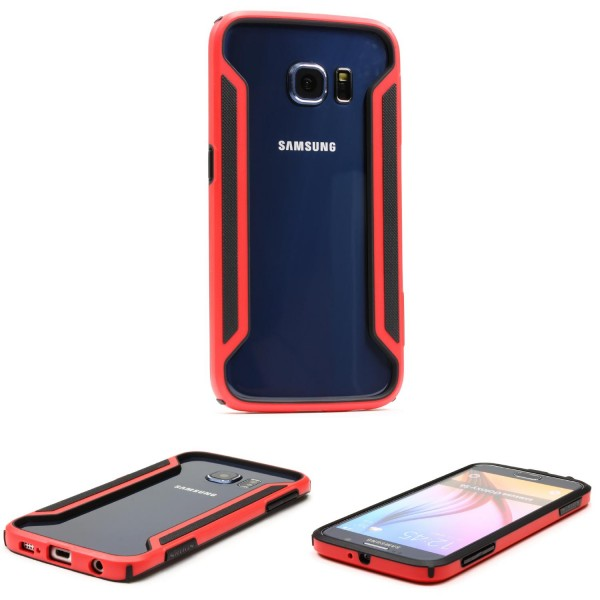 Urcover® Samsung Galaxy S6 Kunststoff Schutzhülle Backcase Cover Bumper Tasche