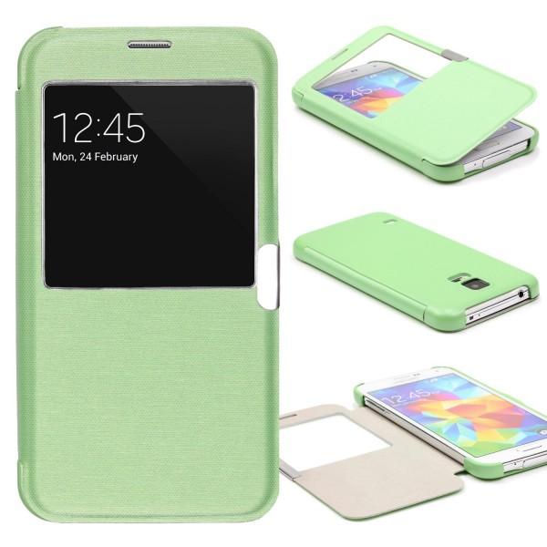 Samsung Galaxy S5 Mini View Case Schutz Hülle Sicht-Fenster Cover