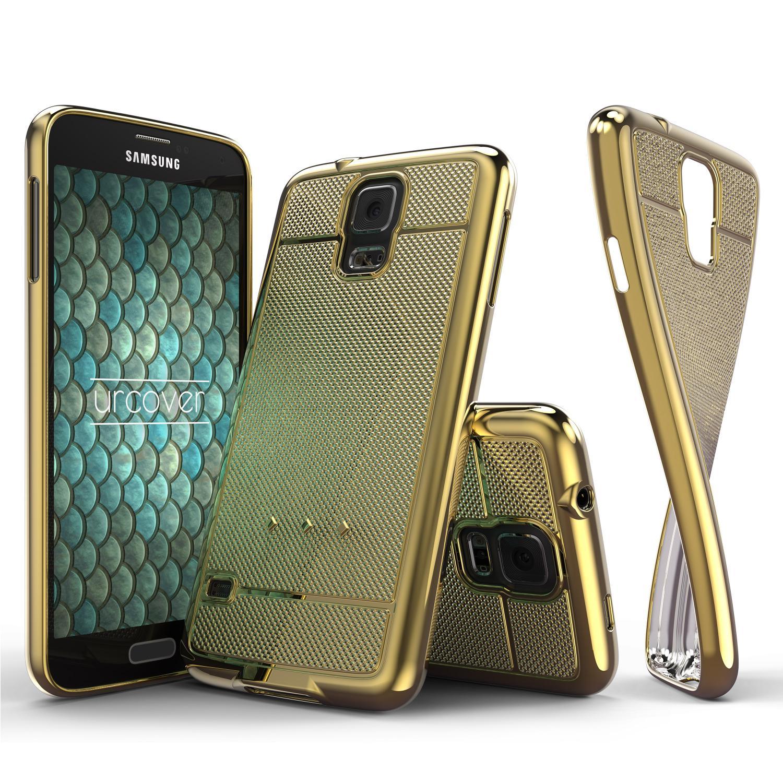 Urcover Samsung Galaxy S5 Schutz Hülle Metall Optik Silikon Soft Back Case Backcase Galaxy S5 Smartphone Samsung