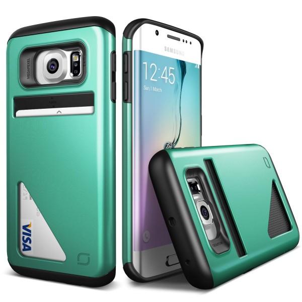 Urcover® Samsung Galaxy S6 Edge Kartenfach Back Case Schutz Hülle Cover Schale