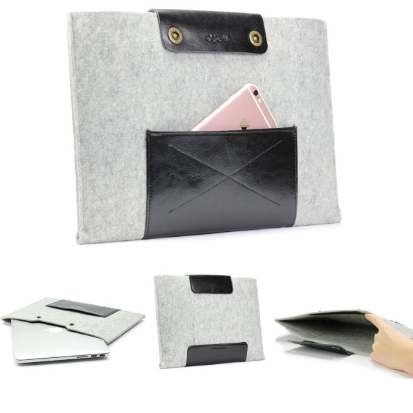 Urcover® Handmade Filz Mac-Book Air Laptop Tasche 13,3 Zoll Sleeve