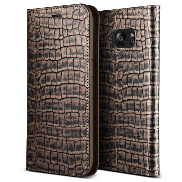 VRS Design® Samsung Galaxy S7 Edge Echt Leder Handy Schutzhülle Case Cover Etui