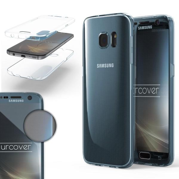 Samsung Galaxy S7 TPU Case 360 Grad rundum Schutz Hülle klar Cover Touch Case