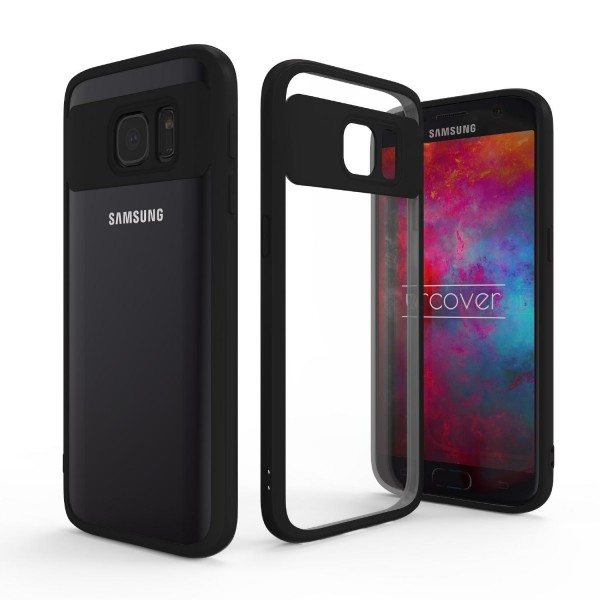 Urcover® Samsung Galaxy S7 Simply Back Cover Schale farbiger Rand Handyhülle