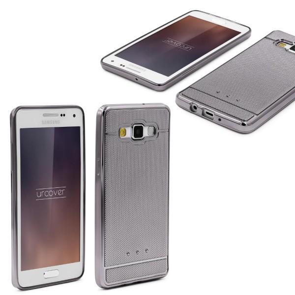 Urcover® Samsung Galaxy A5 (2015) Schutz Hülle Metall Optik Silikon Soft Case