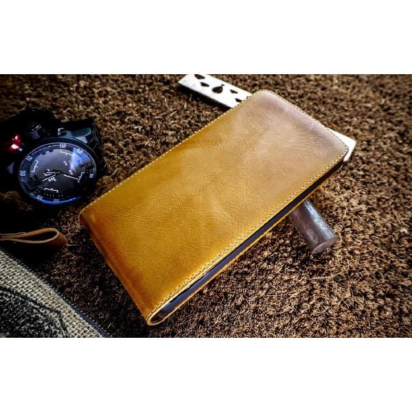 Akir LG G4s Handgemachte Echtleder Klapp Schutz Hülle Wallet Cover Flip Case Etui