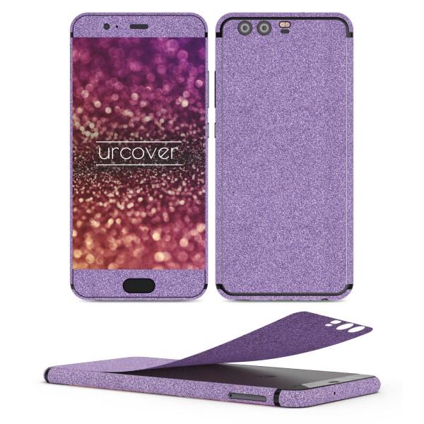 Huawei P10 Plus Glitzer Folie Aufkleben Regenbogen Farbig Diamond Bling Design