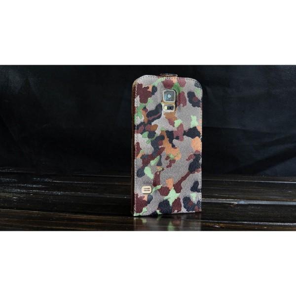 Urcover® Samsung Galaxy S5 Tarn Optik Schutz Hülle Case Cover Etui Flip Wallet