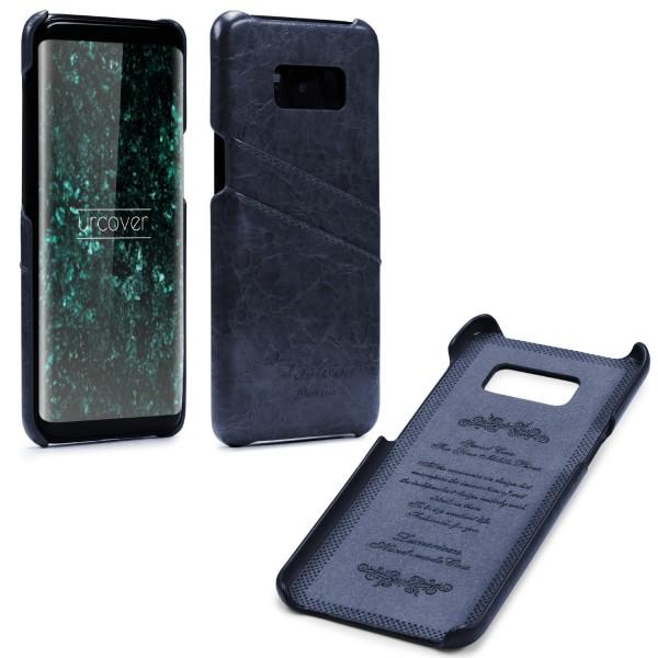 Urcover® Samsung Galaxy S8 Kunstleder Kartenfach Back Case Schutz Hülle Cover