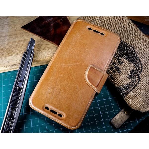 Akira Google Nexus 5x Handgemachte Echt Leder Schutz Klapp Hülle Case Wallet
