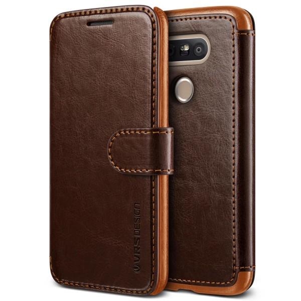 LG G5 Premium Schutzhülle Magnet Verschluss Kartenfach Case Cover Etui Schale