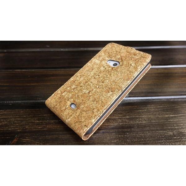 Urcover® Nokia Lumia 625 Kork Schutz Hülle Flip Wallet Case Cover Schale Tasche