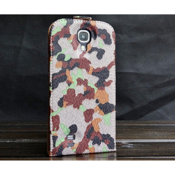 Urcover® Samsung Galaxy S4 Tarn Optik Schutz Hülle Case Cover Etui Flip Wallet