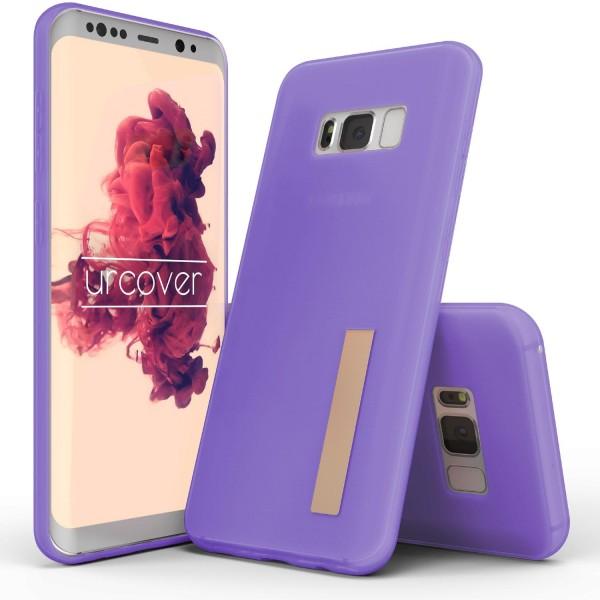 Urcover® Samsung Galaxy S8 Plus TPU Case Standfunktion Schutz Hülle Cover Case Etui Schale