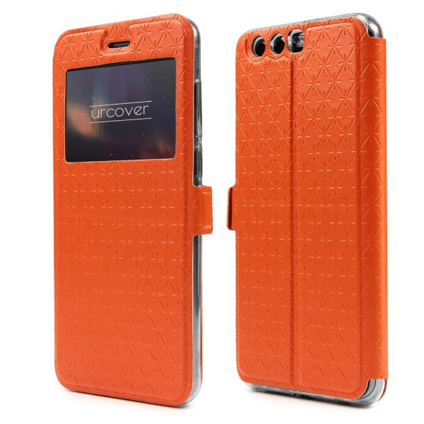 Urcover® Huawei Honor 9 Sichtfenster Wallet Handy Schutz Hülle View Cover Flip Case Klapp Etui