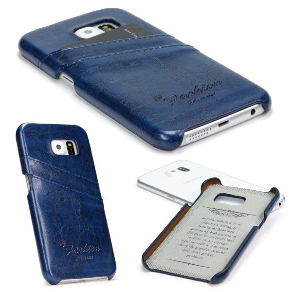 Urcover® Samsung Galaxy S6 Kunstleder Kartenfach Back Case Schutz Hülle Cover