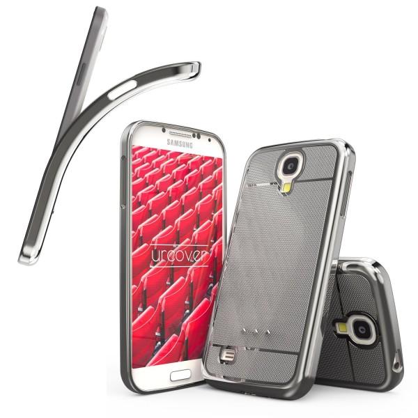 Urcover® Samsung Galaxy S4 Schutz Hülle Metall Optik Silikon Soft Back Case