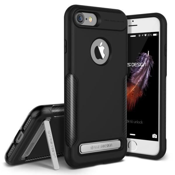 Urcover® Apple iPhone 7 Handy-Hülle VRS Design Carbon TPU/Metal Back-Case