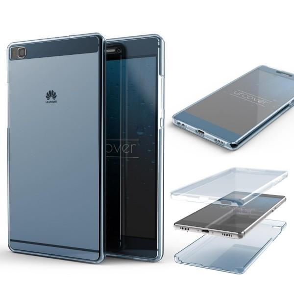 Huawei P8 TPU Case 360 Grad rundum Schutz Hülle Full Body Etui Cover Touch Case