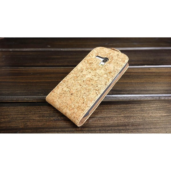 Urcover® Samsung Galaxy S3 Mini Kork Schutz Hülle Flip Wallet Case Cover Schale