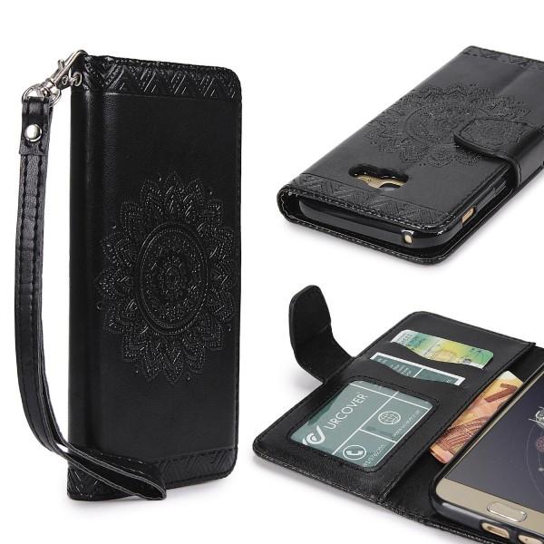 Samsung Galaxy A5 (2017) Wallet Klapp Schutz Hülle Stand Flip Case Cover Etui