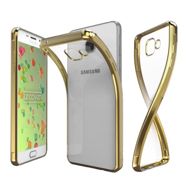 Samsung Galaxy A7 (2016) Hülle Spiegelrand klar Slim Cover Tasche Back Case Etui