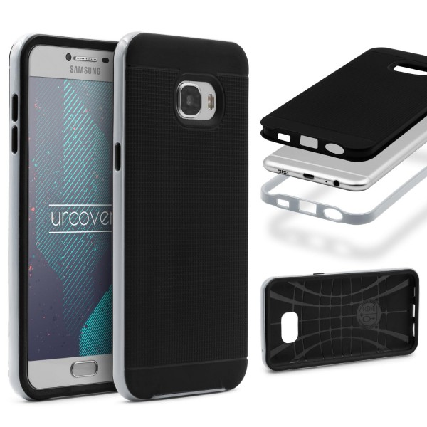 Samsung Galaxy C5 Schutz Hülle Carbon Style Karbon Optik TPU Case Cover Etui