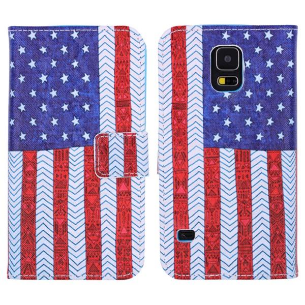 Samsung Galaxy S5 Handy Schutz Hülle Cover Case Wallet Klapphülle Schale Etui