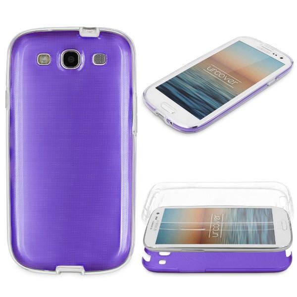 Samsung Galaxy S3 360 GRAD RUNDUM SCHUTZ Metalloptik TPU Hülle Cover Case