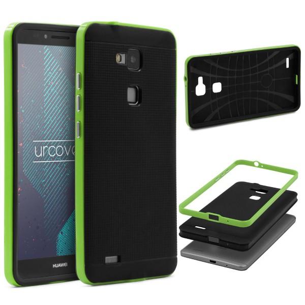 Huawei Mate 7 Schutz Hülle Carbon Style Karbon Optik TPU Case Cover Etui Bumper