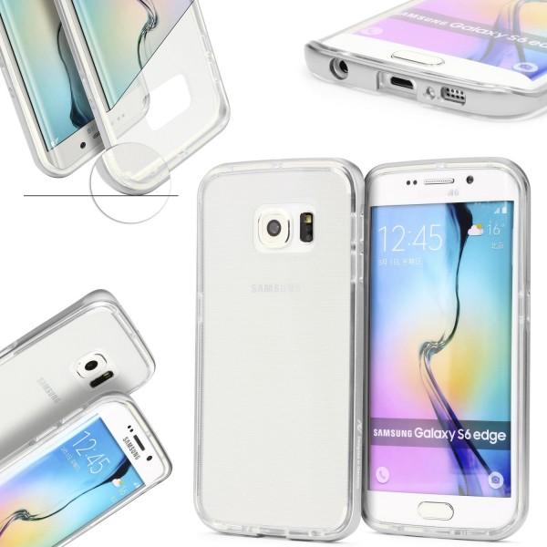 Urcover® Samsung Galaxy S6 Edge Schutzhülle Alu Ecken Schutz Bumper Case Cover