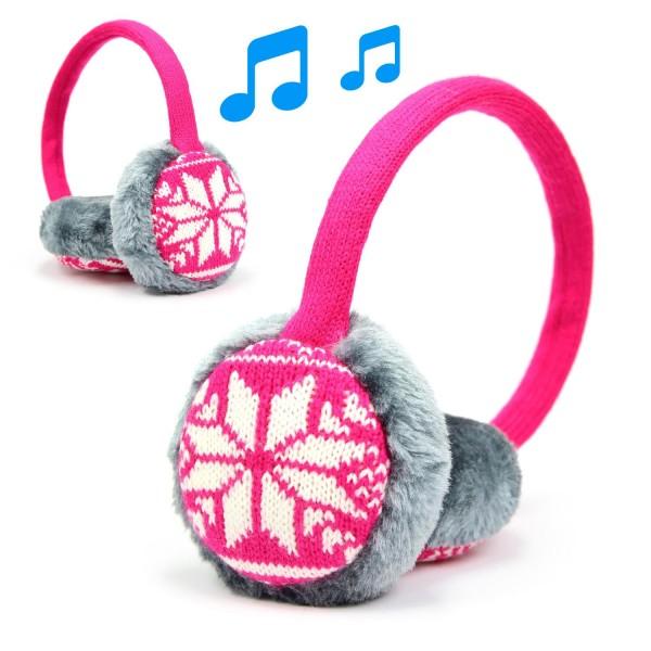 Urcover® Bluetooth Musik Ohrwärmer Lautsprecher flauschig Music Ear Muff Unisex SK M104