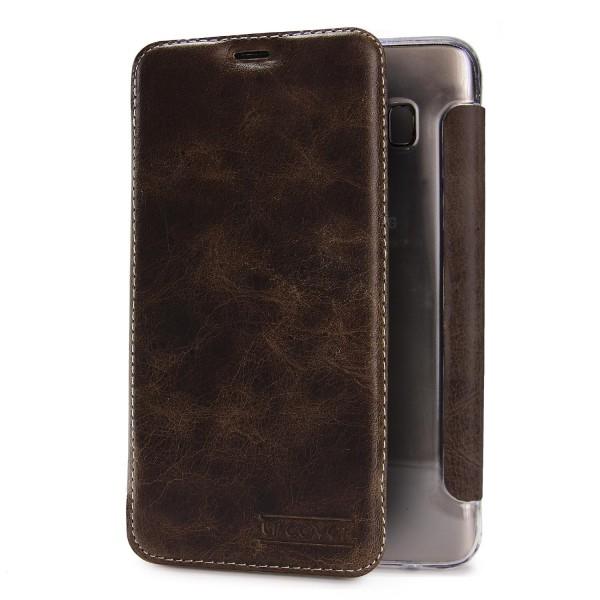 Urcover® Samsung Galaxy S8 Echt Leder Wallet Handyhülle Tasche Schale Schutz Cover Kartenfach Case