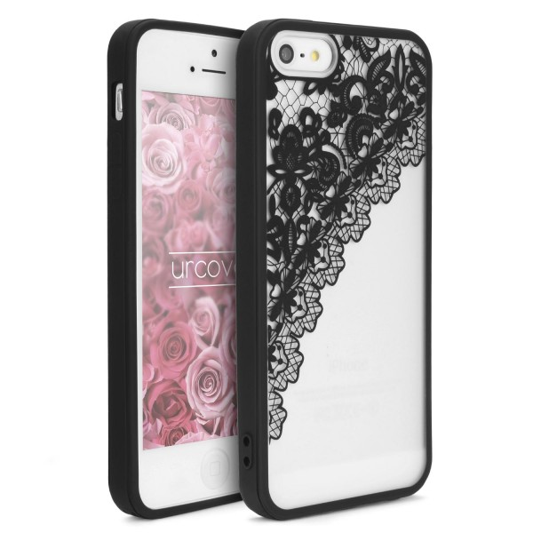 Urcover® Apple iPhone 5 / 5s / SE Schutz Hülle Spitzen Muster Back Bumper Case