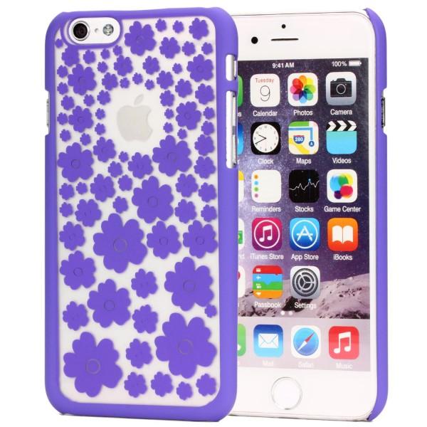 Urcover® Handy Schutz Hülle für iPhone 6 / 6s Blumenmuster Soft Case Cover Tasche