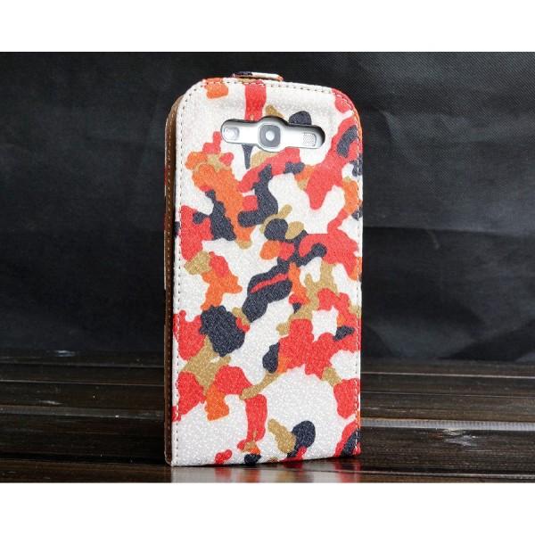 Urcover® Samsung Galaxy S3 Kunststoff Flip Schutzhülle Tarn Optik Case Cover